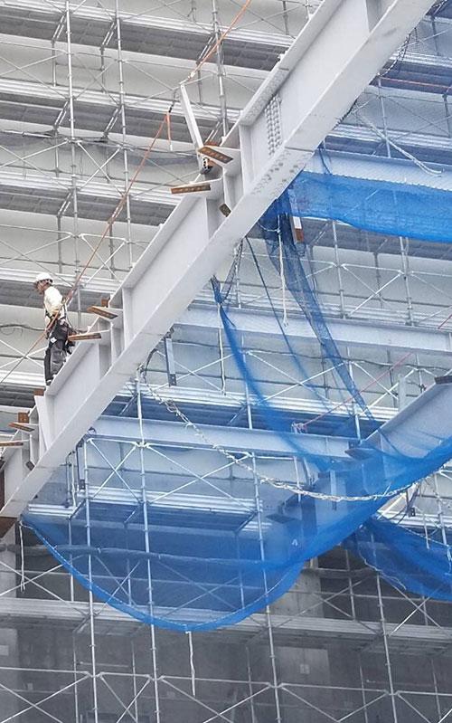 上野架設工業の鉄骨工事