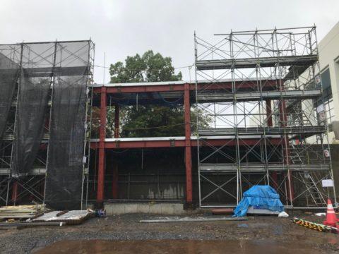 北区 新築 足場工事
