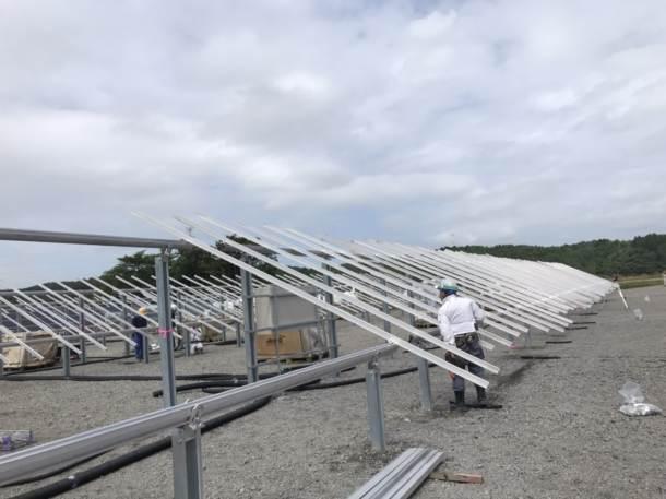 宮城県利府町 太陽光パネル設置工事