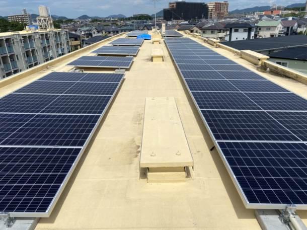 福岡県内 太陽光工事ビレッジハウス太陽光