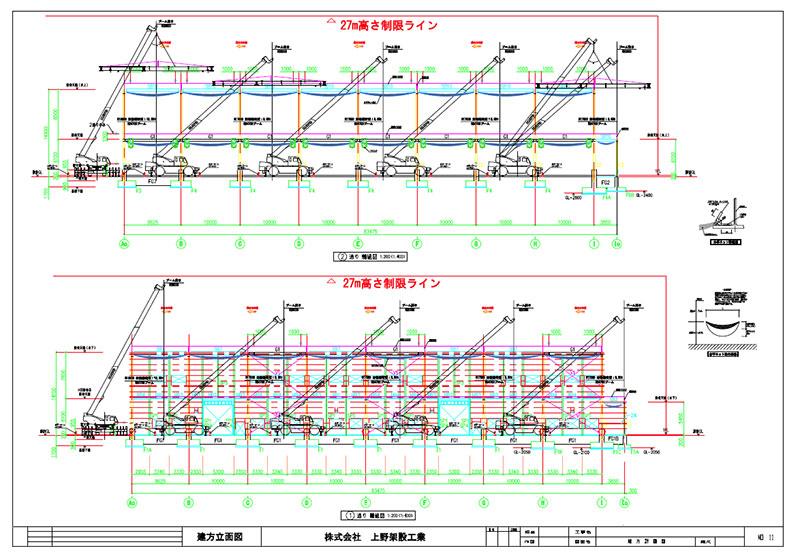 建方計画図通り軸組図